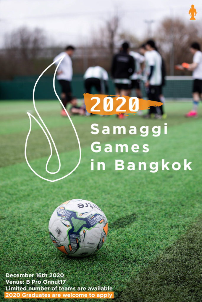 Poster for Samaggi games 2020 in Bangkok with the event date