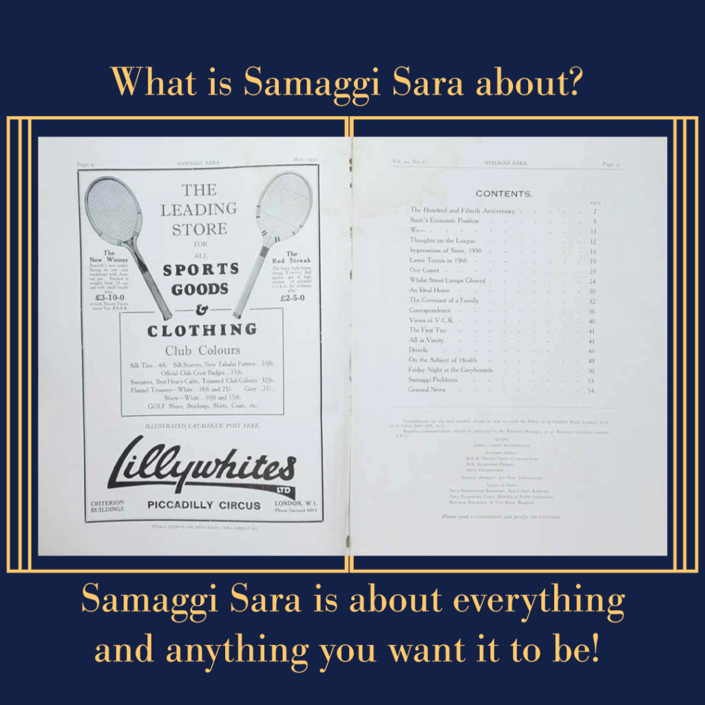What is Samaggi Sara about?