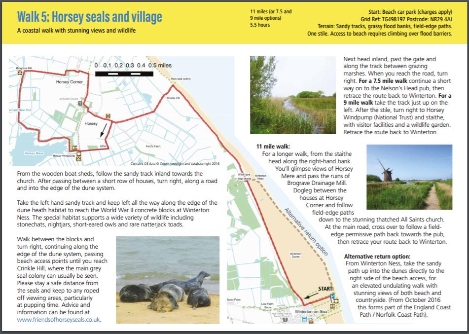 Route 5 Winterton-on-Sea map